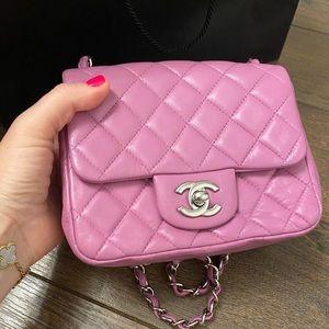 Chanel mini rectangular pink bag